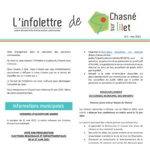 Infolettre de Chasné N°3 de mai 2021
